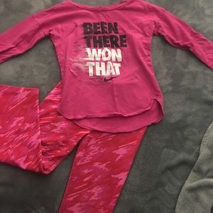 Nike Dri-Fit Girls Athletic Outfit
